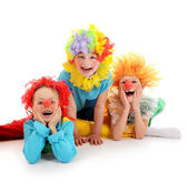 Funny little clowns — Stock Photo