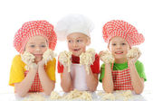 Little bakers — Stock Photo