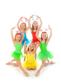 Little ballet dancers — Stock Photo