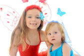 Two little dancers — Stock Photo