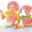 Royalty-Free Stock Photo: Little messy bakers