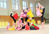 Little sporty girls — Stock Photo