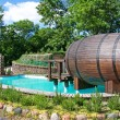 Stock Photo: Little pool with sauna