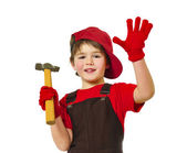 Little carpenter — Stock Photo