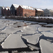 Klaipeda city in winter — Stock Photo