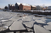 Klaipeda city in winter — ストック写真