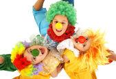 Funny clowns — Stock Photo