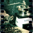 Vintage coffee scene - Stock Photo