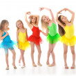 Stock Photo: Little funny ballet dancers