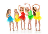 Little funny ballet dancers — Stock Photo