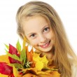 Portrait of autumn girl — Stock Photo