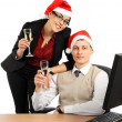 toast with champagne at Christmas — Stock Photo