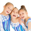 Stock Photo: Little beautiful gymnasts