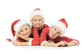 Funny christmas girls — Stock Photo