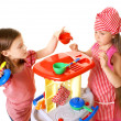 Happy little girls play cooking — Stock Photo #33704751