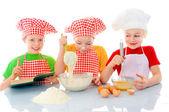 Little bakers — Stock Photo