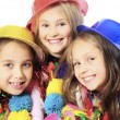 Three funny carnival kids — Stock Photo #34271701