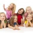 Group of happy children — Stockfoto