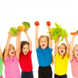 Children with vegetables — Stock Photo #35409069