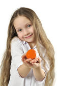 Little girl with easter egg — Stock Photo