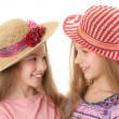 Two little beautiful girls — Stock Photo