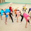 Happy sporty children in gym — Stock Photo #46210965