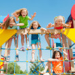 Happy children playing outdoors — Stock Photo #46879651