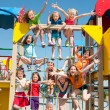 Happy kids playing outdoors — Stock Photo #47117287