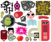 Mix of vector images. vol.59 — Stock Vector