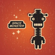Vintage monster. - Stock Vector