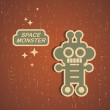 Vintage monster. - Stok Vektr