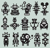 Monsters and robots collection #20. — Stock Vector