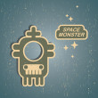 Royalty-Free Stock Vector Image: Vintage monster.