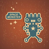 Vintage monster. — Stock Vector