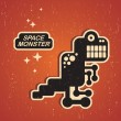 Vintage monster. — Stock Vector #13037234