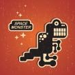 Vintage monster. — Stock Vector #13037234
