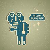 Vintage monster. — Stock Vector