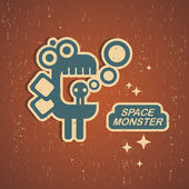 Retro monster. — Stock Vector