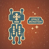 Retro monster. — Stockvector
