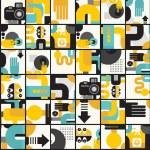 Photo man seamless pattern. — Stock Vector
