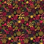 Cute night flowers seamless pattern. — Stock Vector