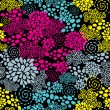 Colorful flowers seamless pattern. — Stock Vector