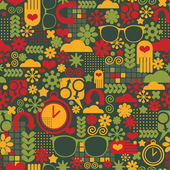 Seamless pattern with watch. — Stock Vector