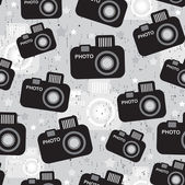 Camera seamless pattern. — Stock Vector