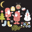 Funny characters for Christmas design. - Stock Vector