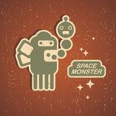 Vintage monster. — Stockvektor