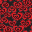 Royalty-Free Stock Vector Image: Heart seamless pattern.