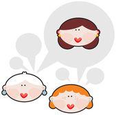 Female conversations. — Stock Vector