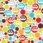 Colorful dots seamless background. — Stock Vector