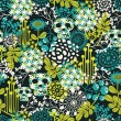 Cute skulls seamless pattern. — Vector de stock #25455115
